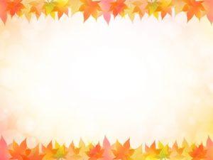 敬老の日 イラスト フレーム枠 紅葉