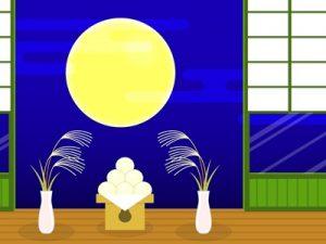 イラスト お月見 縁側