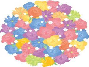 イラスト 花束 フラワーブーケ 敬老の日