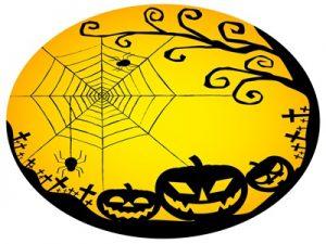 ハロウィン イラスト クモ 蜘蛛の巣