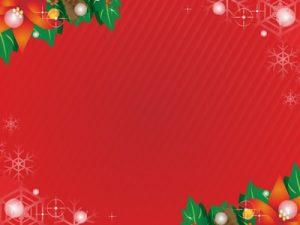 クリスマス イラスト ポインセチア 背景