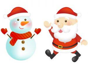 サンタクロース・雪だるま