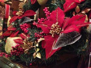 クリスマス雑貨 ポインセチア オーナメント