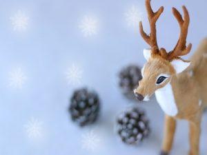 クリスマス雑貨 置物 トナカイ