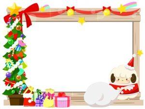 クリスマス ひつじ イラスト
