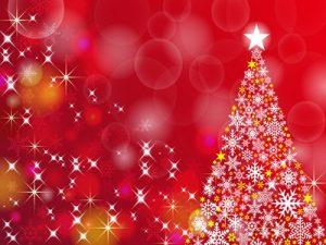 クリスマスツリー イラスト 背景