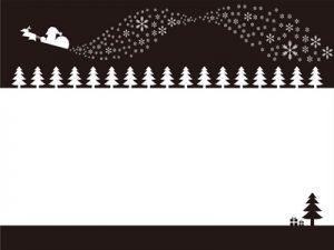 クリスマス イラスト フレーム 白黒