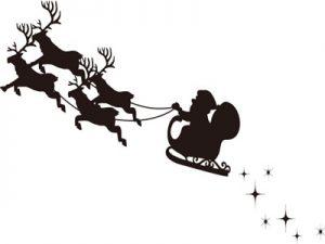 クリスマス イラスト ソリ 白黒・モノクロ