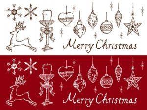 クリスマス イラスト 手書き風 カード素材