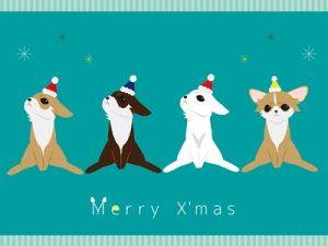 クリスマス イラスト 犬