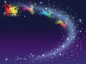 クリスマス イラスト 夜空 背景