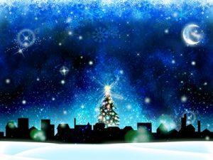 クリスマス 街並み シルエット