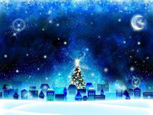 クリスマス イラスト 街