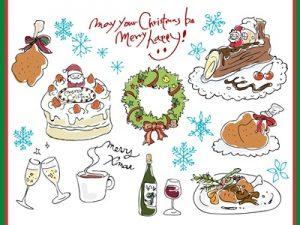 クリスマス イラスト 手書き風 料理