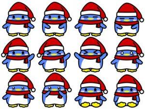 クリスマス イラスト ペンギン