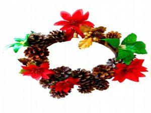 クリスマス雑貨 ポインセチア リース