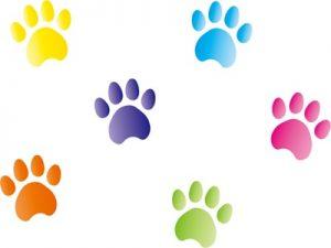年賀状 イラスト 犬 足跡
