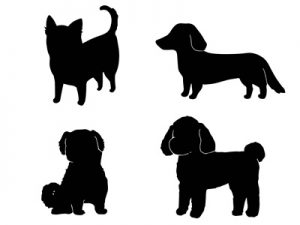 年賀状 イラスト 犬 白黒 モノクロ