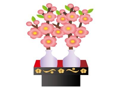 桃の節句 ひな祭り 花 イラスト 無料 フリー素材