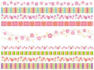 桃の節句 花 イラスト 素材 フレーム 背景 無料 フリー