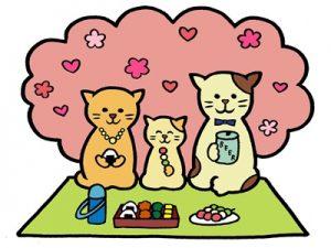 お花見 イラスト 猫 動物 無料 フリー