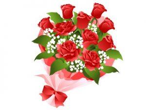 花束 バラ イラスト 無料 フリー