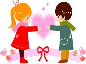 バレンタイン イラスト カップル 可愛い 無料 フリー