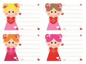 バレンタイン 女の子 イラスト かわいい 無料 フリー