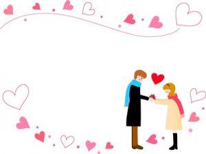バレンタイン イラスト カップル 可愛い 無料 フリー素材