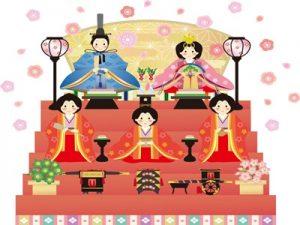 雛人形 おひなさま 三段飾り イラスト 無料 フリー