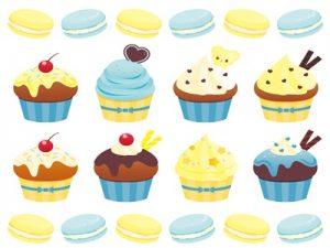 ホワイトデー お菓子 カップケーキ イラスト 無料