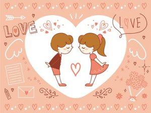 バレンタインカード イラスト 手書き風 無料