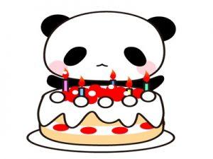誕生日カード イラスト パンダ 無料 フリー