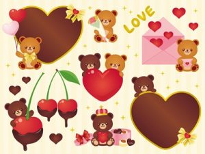 バレンタイン イラスト クマ 可愛い 無料 フリー