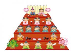 雛人形 おひなさま 五段 ひな祭り イラスト 無料 フリー