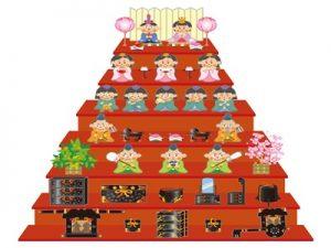雛人形 おひな様 七段 ひな祭り イラスト 無料 フリー