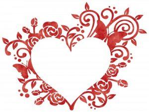 バレンタインカード イラスト フレーム 無料