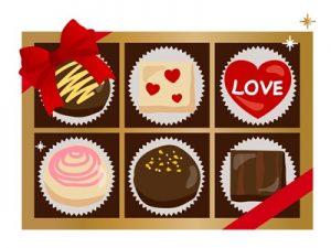 バレンタイン イラスト 手書き風 チョコレート 無料