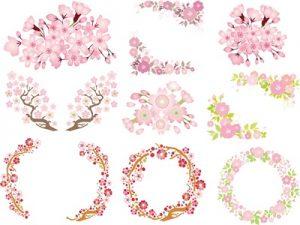 桃の節句 花 桜 イラスト 無料 フリー