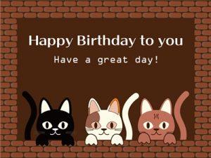 誕生日 カード イラスト 猫 無料 フリー