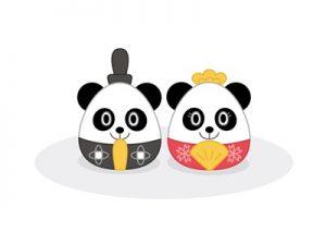 ひな祭り イラスト 動物 パンダ お雛様 無料 フリー