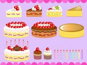 バースデーケーキ 誕生日ケーキ イラスト 素材 背景 無料 フリー
