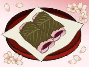 お花見 桜餅 イラスト 無料 フリー