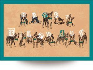バースデーカード 誕生日カード イラスト フレーム テンプレート かっこいい 無料 フリー