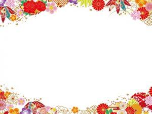 ホワイトデー 花 和柄 フレーム イラスト 無料 フリー