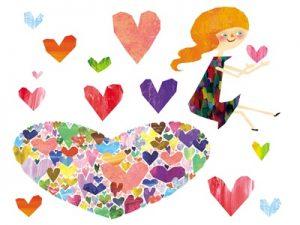 バレンタイン 手書き 女のコ イラスト 無料 フリー