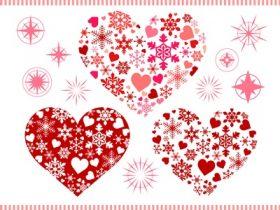 バレンタイン イラスト 背景 オシャレ ハート 無料 フリー