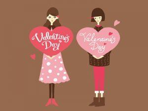 バレンタイン おしゃれ イラスト 女性 無料 フリー素材