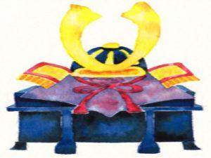 兜 手描き 水彩画 イラスト 無料 フリー素材