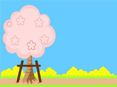 お花見 桜 イラスト 背景 かわいい 無料 フリー